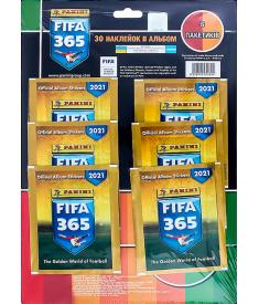 Мультипакет наклеек FIFA 365 - 2021 (6 пакетиков)