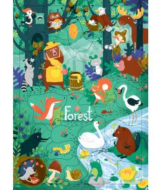 Пазл «Ліс» (30 слів)..
