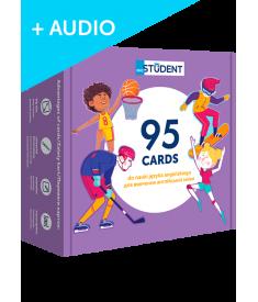 Спорт и досуг. 95 карточек (англо-украинский)