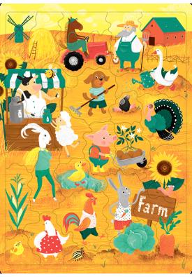 Пазл «Ферма» (30 слів)