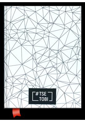 """Блокнот/щоденник """"Tse Tobi"""" (білий)"""