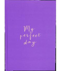 """Щоденник """"My perfect day"""" (фіолетовий)"""